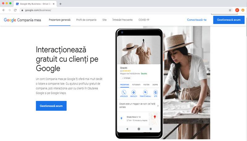 Creaza cont Compania mea pe Google